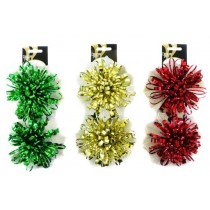 """Christmas Fireworks Bows - 5"""" ~ 2 per pack"""