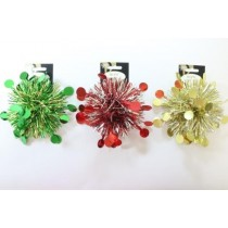 "Christmas PVC Tinsel Bows - 5"" ~ 2 per pack"