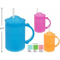 Luciano 8oz Frosty Mug with Lid + Straw