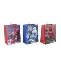 Christmas Medium Gift Bag ~ Christmas Lanterns ~ 12 per Bag