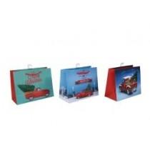 Christmas Medium Gift Bag ~ Pick Up Trucks ~ 12 per Bag