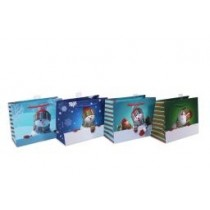 Christmas Medium Gift Bag - Snowman ~ 12 per Bag