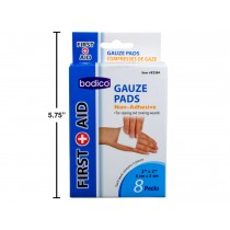 "Gauze Pads - 2"" x 2"" ~ 8 per pack"