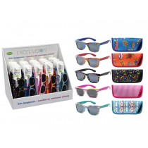 Excel Vision Kid's Print Sunglasses w/Case