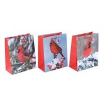 Christmas Large Gift Bag ~ Winter Cardinals