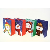 Christmas Large Gift Bag ~ Snowman ~ 12 per Bag
