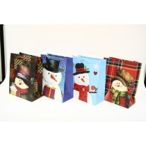 Christmas Medium Gift Bag ~ Snowman