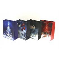 Christmas Large Gift Bag ~ Reindeer Night Scene