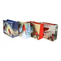 Christmas Horizontal Large Gift Bag ~ Cardinals