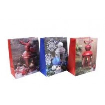 Christmas Large Gift Bag ~ Christmas Lanterns