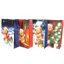 Christmas Jumbo Gift Bag ~ Teddy Bears