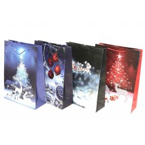 Christmas Jumbo Gift Bag ~ Reindeer Night Scene