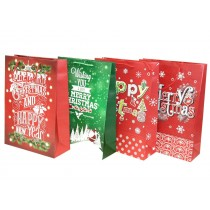Christmas Jumbo Gift Bag ~ Christmas Greetings