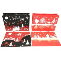 Christmas Horizontal Jumbo Gift Bag ~ Night Scenes