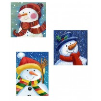 Christmas Jumbo Super Wide Gift Bag ~ Snowman