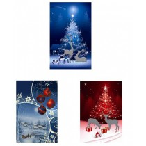 Christmas Jumbo Super Wide Gift Bag ~ Night Scene