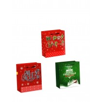 Christmas Horizontal Jumbo Super Wide Gift Bag ~ Merry Xmas