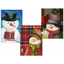 Christmas Horizontal Jumbo Super Wide Gift Bag ~ Snowman