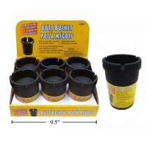 Butt Bucket Extinguishing Ashtray - Black Only ~ 6 per display