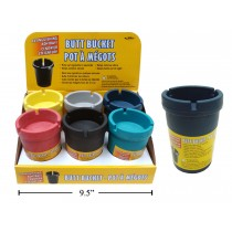 Butt Bucket Extinguishing Ashtray - Multi Color ~ 6 per display