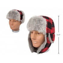 Men's Buffalo Plaid Aviator Hat