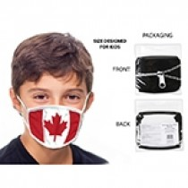 Cotton/Polyester Comfort Fit Kid's Mask ~ Canada Flag