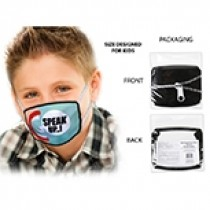Cotton/Polyester Comfort Fit Kid's Mask ~ Speak Up