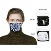 Cotton/Polyester Comfort Fit Adults Mask ~ Zigzag