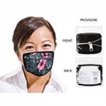 Cotton/Polyester Comfort Fit Adults Mask ~ Hibiscus