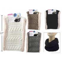 Ladies Cable Knit Double Sided Neck Warmer