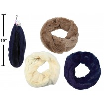 Ladies Faux Fur and Knitted Double Sided Infinity Scarf