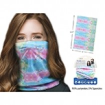Adult Neck Gaiter ~ Water Color Tie-Dyed