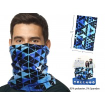 Adult Neck Gaiter ~ Blue / Black Pattern