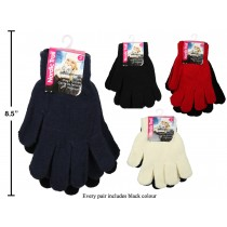 Ladies Solid Color Magic Gloves ~ 2 per pack