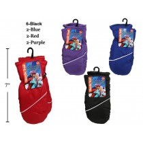 Kid's Nylon Ski Mittens ~ Sizes 2-3X + 3-6X