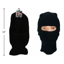 Adults Knitted Black Balaclava