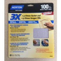 "High Performance Sandpaper ~ 9""x11"" ~ 100 grit"