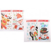 Christmas Jumbo Window Clings ~ 4 assorted