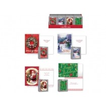 Christmas Deluxe Traditional Boxed Cards ~ 12 per pack