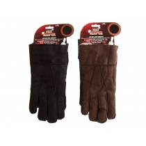 Men's Suede Gloves with Sherpa Lining