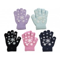 Kid's Magic Gloves with Snowflake Pattern