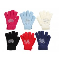 Girl's Magic Gloves with Sequin Patterns