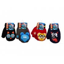 Kid's Animal Face Character Mittens