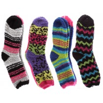 Ladies Feather Cozy Socks ~ 2 per pack