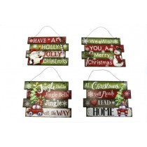 "Christmas Pallet Board Wall Signs ~ 10"" x 7.5"""