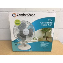 "12"" Oscillating Table Fan ~ White"