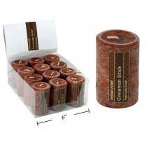 "Pillar Candle - 2"" x 3"" ~ Cinnamon Stick"