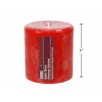 "Christmas Pillar Candle - 3"" x 3"" ~ Apple Spice"