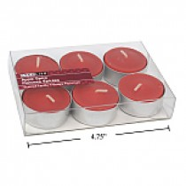 Christmas Tealight Candles - 6/pk ~ Apple Spice