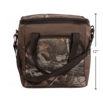 Insulated Camo Cooler Bag with Front Zippered Pocket ~ 18L